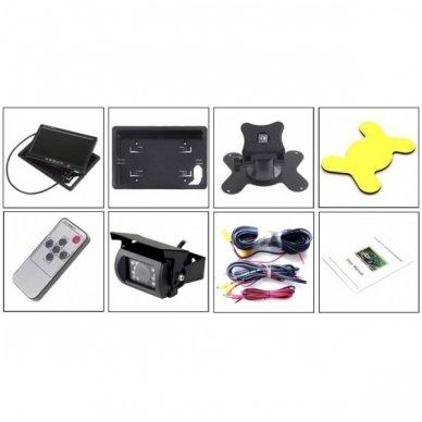 12V 7 colių monitoriaus ir galinio vaizdo kameros su naktiniu matymu komplektas 5