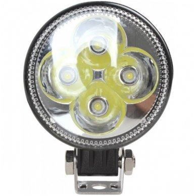 12W LED siauro ir plataus švietimo - kombinuoto švietimo apvalus žibintas 12W, 10-30V, 4 LED, 1000LM