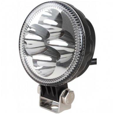 12W LED siauro ir plataus švietimo - kombinuoto švietimo apvalus žibintas 12W, 10-30V, 4 LED, 1000LM 2