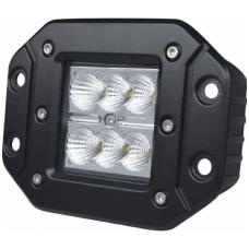 18W LED įleidžiamas žibintas plataus švietimo - 18W, 10-30V, 12 CREE LED 1800LM