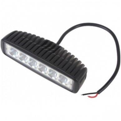 EMC LED plataus švietimo darbo žibintas 18W, 9-32V, 6 LED 4