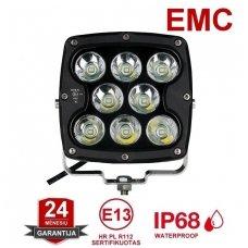 LED apvalus sertifikuotas žibintas 80W 8000LM 12-24V (E13 00 HR PL) SPOT
