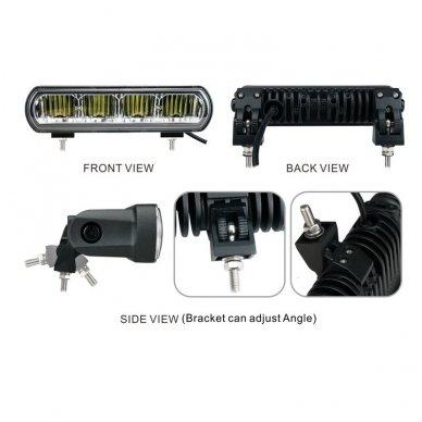 2x LED BAR sertifikuoti žibintai OSRAM-CRDP 2x40W 2x3135LM 12-24V (E9 HR PL) COMBO 2x22cm 7