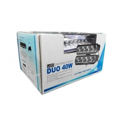 2x LED BAR sertifikuoti žibintai OSRAM-CRDP 2x40W 2x3135LM 12-24V (E9 HR PL) COMBO 2x22cm 5