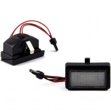 2x LED MB ML W164 18 SMD 3w/12v numerio apšvietimo lemputės 2