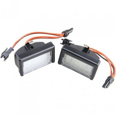 2x LED MB ML W164 18 SMD 3w/12v numerio apšvietimo lemputės 5