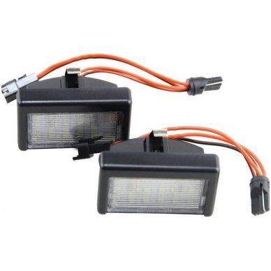 2x LED MB ML W164 18 SMD 3w/12v numerio apšvietimo lemputės
