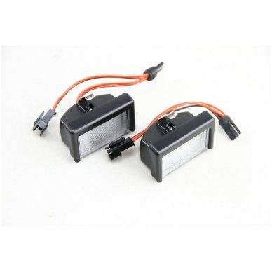 2x LED MB ML W164 18 SMD 3w/12v numerio apšvietimo lemputės 6
