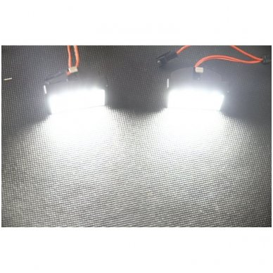 2x LED MB ML W164 18 SMD 3w/12v numerio apšvietimo lemputės 7