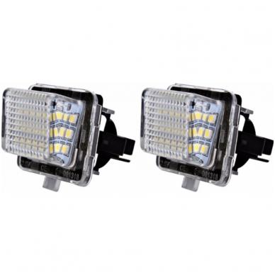 2x LED MB W204, W204 5D, W212, W216, W221 18 SMD 3w/12v numerio apšvietimo lemputės