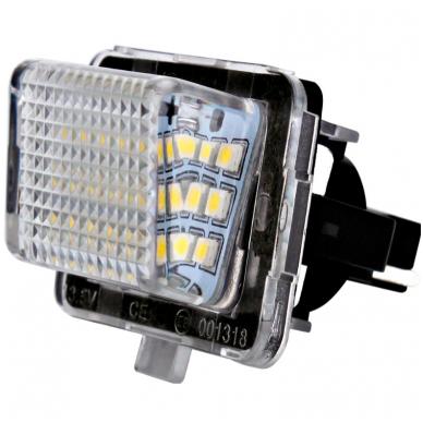 2x LED MB W204, W204 5D, W212, W216, W221 18 SMD 3w/12v numerio apšvietimo lemputės 2
