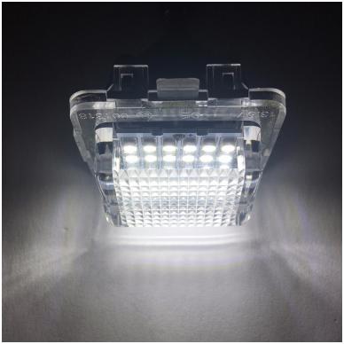 2x LED MB W204, W204 5D, W212, W216, W221 18 SMD 3w/12v numerio apšvietimo lemputės 5