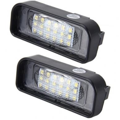 2x LED MB W220 99-05 S-class 18 SMD 3w/12v numerio apšvietimo lemputės