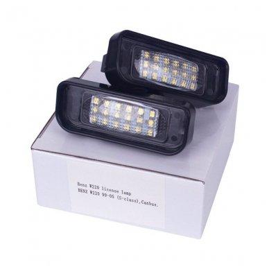 2x LED MB W220 99-05 S-class 18 SMD 3w/12v numerio apšvietimo lemputės 2