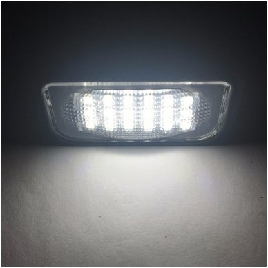 2x LED MB W220 99-05 S-class 18 SMD 3w/12v numerio apšvietimo lemputės 7