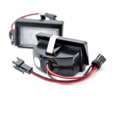 2x LED MB ML W164 18 SMD 3w/12v numerio apšvietimo lemputės 4