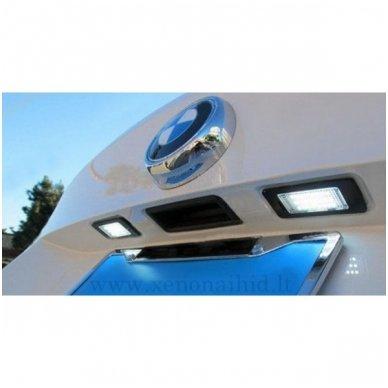 2x Led OEM Error-free numerio apšvietimas BMW 1/ 3/ 5/ X - serijos 18 SMD 6000k 6