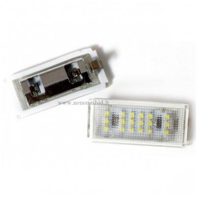 2x Led OEM Error-free numerio apšvietimas BMW E46 2 durys 18 SMD 6000k