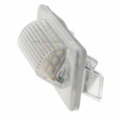 2X LED OEM ERROR-FREE NUMERIO APŠVIETIMAS Mercedes benz MB W210 4D Sedan, W202 4D Sedan Facelif 8 SMD 6000K 2