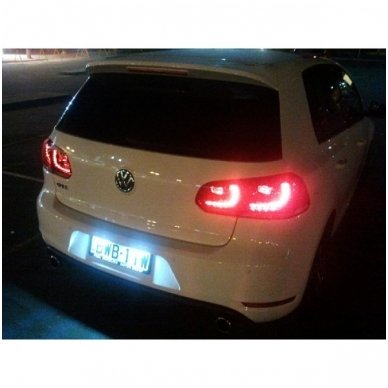 2x Led OEM Error-free numerio apšvietimas Volkswagen automobilių 18 SMD 6000k 6