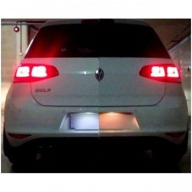 2x Led OEM Error-free numerio apšvietimas Volkswagen, Škoda automobilių 18 SMD 6000k 4