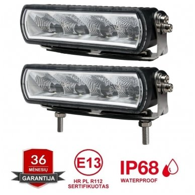 2x MINI LED BAR sertifikuoti žibintai OSRAM-CRDP 2x20W 2x1515LM 12-24V (E9 HR PL) COMBO