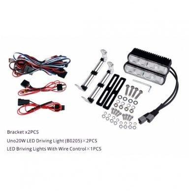 RAIN 2x MINI LED BAR sertifikuoti žibintai OSRAM-CRDP 2x20W 2x1515LM 12-24V (E9 HR PL) COMBO 6