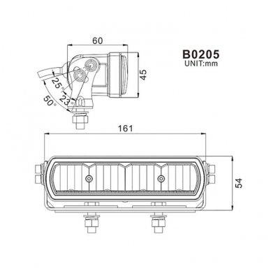 RAIN 2x MINI LED BAR sertifikuoti žibintai OSRAM-CRDP 2x20W 2x1515LM 12-24V (E9 HR PL) COMBO 10