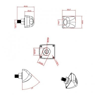 Automobilio priekio / galo vaizdo kamera įleidžiama - su atstumo rėmeliu chromuota 5