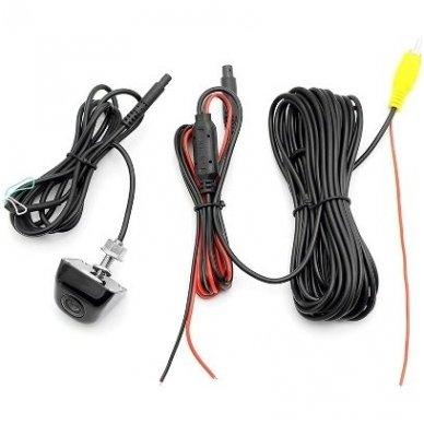 Automobilio priekio / galo vaizdo kamera įleidžiama - su atstumo rėmeliu chromuota 6