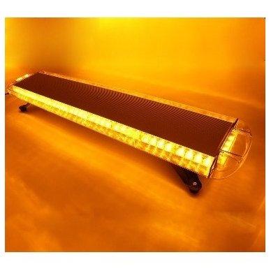 Įspėjamasis galingas LED oranžinis švyturėlis 12V-24V 150 cm 2