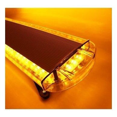 Įspėjamasis galingas LED oranžinis švyturėlis 12V-24V 150 cm 3