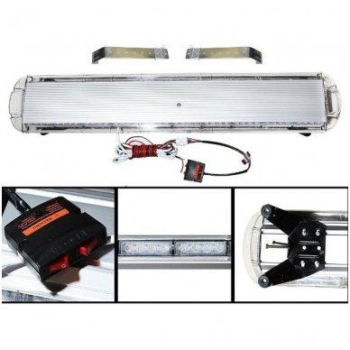 Įspėjamasis galingas LED oranžinis švyturėlis 12V-24V 150 cm 4
