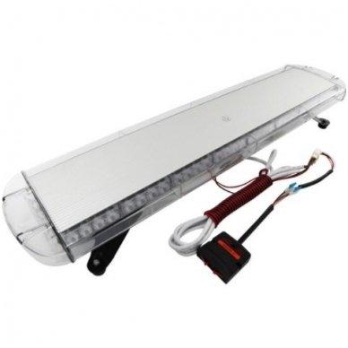 Įspėjamasis galingas LED oranžinis švyturėlis 12V-24V 150 cm 5