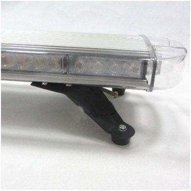 Įspėjamasis galingas LED oranžinis švyturėlis 12V-24V 150 cm 7