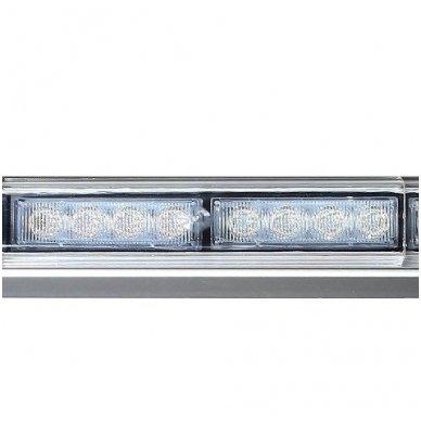 Įspėjamasis galingas LED oranžinis švyturėlis 12V-24V 150 cm 8
