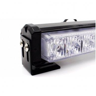 Įspėjamieji 2 LED žibintai lęšiniai švyturėliai raudona - mėlyna 6