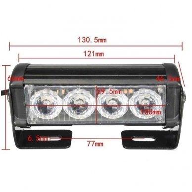 Įspėjamieji 2 LED žibintai lęšiniai švyturėliai raudona 6