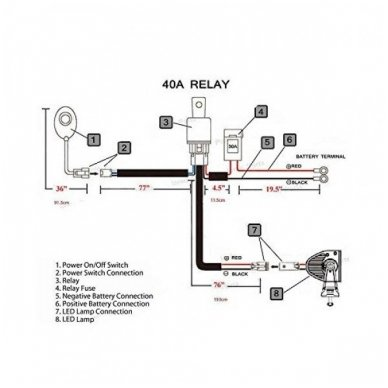 E36 modelio led BAR žibintų įjungimo relė 12v 200W - 440W 10