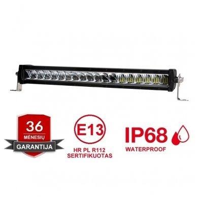 LED BAR sertifikuotas žibintas 240W 24000LM 12-24V (E9 HR PL) COMBO 68cm