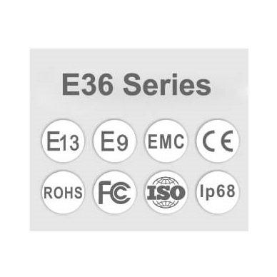 LED BAR sertifikuotas žibintas 500W 50000LM 12-24V (E9 HR PL) COMBO 12
