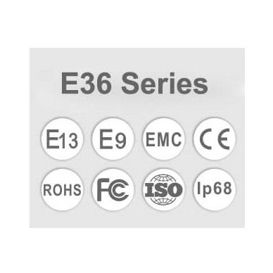 LED BAR sertifikuotas žibintas 440W 44000LM 12-24V (E9 HR PL) COMBO 12