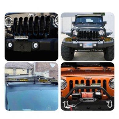LED BAR sertifikuotas žibintas 60W 6000LM 12-24V (E9 HR PL) FLOOD 15