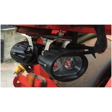 EMC LED raudonas autokrautuvo saugos - žemės ūkio purkštuvo žibintas 10-30V E13, 10R-04 11