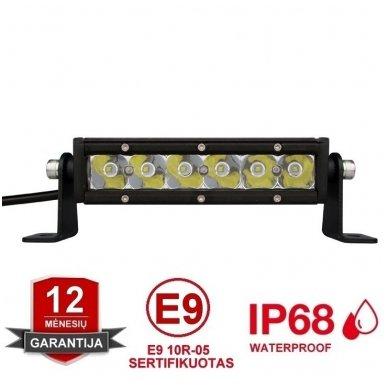 MINI LED BAR žibintas 30W 12-24V FLOOD 19cm