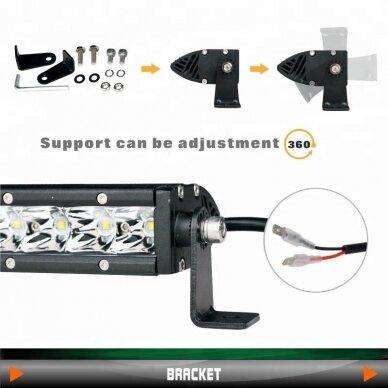 MINI LED BAR žibintas 90W 12-24V (E9 10R) SPOT 8