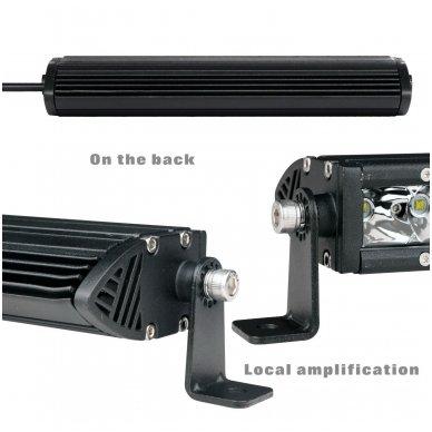 MINI LED BAR žibintas 120W 12-24V (E9 10R) SPOT 5