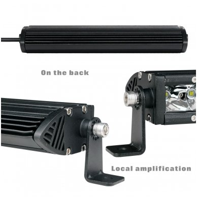 MINI LED BAR žibintas 180W 12-24V (E9 10R) COMBO 6