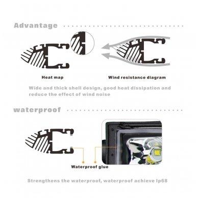 MINI LED BAR žibintas 180W 12-24V (E9 10R) COMBO 13