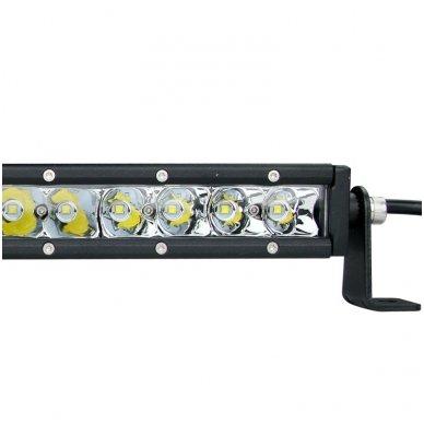 MINI LED BAR žibintas 30W 12-24V FLOOD 19cm 8